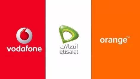 埃及三大电讯营运商标志